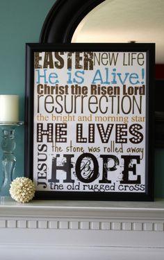 Christ-centered Easter decor