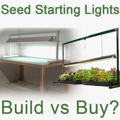Seed Starting Grow Lights: Build Or Buy?