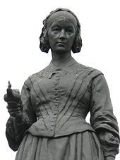 Florence Nightingale shown as a nurse in Crimea with her famous lamp. The statue stands on Waterloo Place, and is by Arthur George Walker. Florence Nightingale, Hackney Central, George Walker, National Nurses Week, Nurse Art, Living Statue, Community Hospital, Royal Academy Of Arts, Nurse Quotes