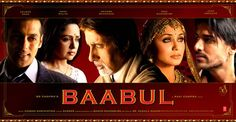 "Baabul (2006), Indian cinema-goers are prepared to accept the taboo-crossing event of watching a widow become married for a second time but evidently not prepared to watch her enjoy it.At. All.  Even if the second hub is a trade-up from Salman Khan (""Dude, I really want to grow old with you."") to John Abraham (who, let's face it, didn't need to make his mark by being a great dancer/actor)."
