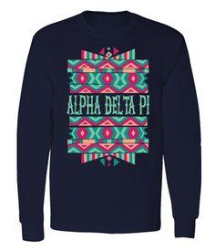Alpha Delta Pi Tribal Kaleidoscope Long Sleeve // College Hill Custom Threads