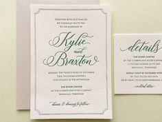 The Kylie Suite Sample Letterpress Wedding Invitat Wedding Invitation Samples, Letterpress Wedding Invitations, Pink Invitations, Vintage Wedding Invitations, Letterpress Printing, Wedding Invitation Design, Wedding Stationery, Kylie, Rustic Wedding