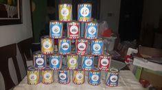 Dulces cumpleaños Pocoyo con lata de leche reciclada