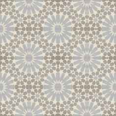 Moroccan Encaustic Cement Pattern Grey Tile gr12 | £ 2.53 | Moroccan Encaustic Cement Pattern Shades of Grey Tles | Best Tile UK | Moroccan ...