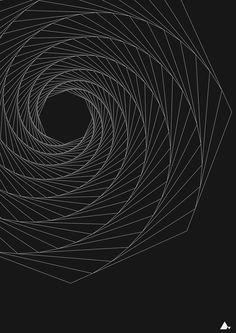 """""""Octogonal Spin"""" Art print"""