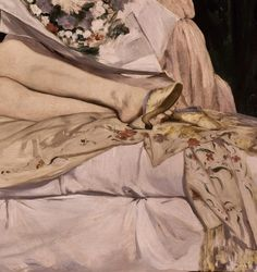 Olympia by Edouard Manet Edouard Manet, French Artists, Olympia, 19th Century, Hands, Detail, Painting, Beautiful, Shoes