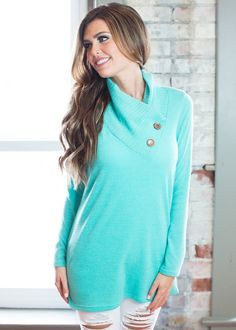 Online boutique. Best outfits. A Vision Top Jade - Modern Vintage Boutique