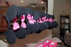 Minnie Mickey Mouse Ears Tutorial   Modified this tutorial for ears for D's third birthday.  I bought black headbands so I didn't have to cover them in felt.  And I used cardboard circles inside the ears instead of foam.