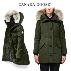 CANADA GOOSE ダウンジャケット・コート CANADA GOOSE Rossclair Parka Fusion Fit おしゃれなカーキ Canada Goose Women, Canada Goose Jackets, Parka, Winter Jackets, Fitness, Fashion, Winter Coats, Moda, Winter Vest Outfits