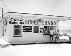 Ernest Hamilton's stone crab store - Chokoloskee Island, Florida 1960s