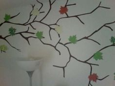 Cool DIY wall decals made with contact paper. I want to try this out!