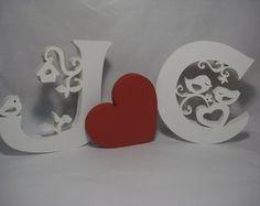 Conjunto 2 letras + coração