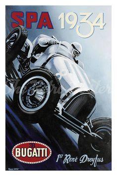 Bugatti Spa 1934 1sr Rene Drayfus Car Racing Vintage Car