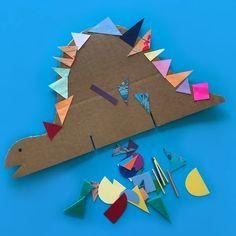 Kindergarten Art Lessons, Art Lessons Elementary, Preschool Kindergarten, Toddler Preschool, Dinosaur Crafts, Dinosaur Art, Diy For Kids, Crafts For Kids, Paper Art