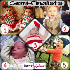 drum ... roll ... please ...!!   These are the photos with the most likes in our Cutest Baby Photo Contest!!!  (in no particular order)  Congratulations - you now move on to our Semi-Finals!  And a huge thank you to everyone participated by sending in photos and voting!   Born Fabulous will be selecting the FINAL WINNER of the $100 Shopping Spree!  Winner will be selected on Monday!  Stay tuned!