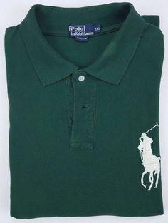 09c75da87c1 Polo Ralph Lauren 3XL Polo Shirt Big Pony Logo Green Mens Size Cotton Short  XXXL
