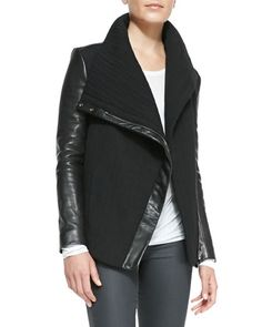 82277aa83df4 Blizzard Knit Leather Jacket by Helmut Lang at Neiman Marcus.  533.00 Style  Wish