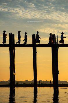 U Bain bridge. Mandalay, Myanmar. | by Tonnaja Anan Charoenkal