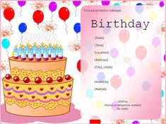 Nice Create Birthday Invitation Templates Free Templates Check more at http://www.nataliesinvitation.com/9207/create-birthday-invitation-templates-free-templates/
