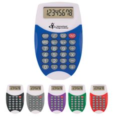 These are just adorable! Our calculators come in fun colors that will look great hanging out on your desk. Chose your favorite color and customize with your new logo to advertise your company!
