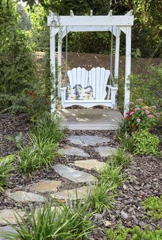 Lawn and Garden Tools Basics Annaliese Porch Swing - Bahçe Garden Swing Seat, Garden Arbor, Lawn And Garden, Garden Water, Garden Planters, Garden Swings, Big Garden, Porch Garden, Garden Edging