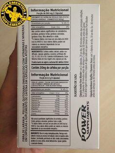 Sineflex: Informação Nutricional