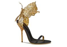 Butterfly sandals in leather and metal, Sergio Rossi tribute to Gabriella Crespi, €890.