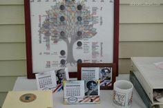 Family Reunion Idea: Print your family tree on fabric.