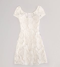 Floral Lace Dress in Cream | $44.99 | American Eagle