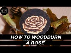 How to woodburn flowers / Rose / artistblend Wood Burning Patterns, Woodburning, Pyrography, Wood Crafts, Make It Yourself, Rose, Youtube, Flowers, Pink