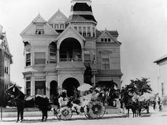 The Castle, built 1882 on L.A's Bunker Hill. Moved to Heritage Place in 1969 to save it from demolition (the Hollywood Freeway).