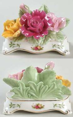 Royal Albert Old Country Roses Business Card Holder which remind me of my Grandmother ❤️