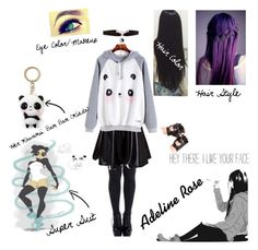 """""""Adeline (Normal Outfit)"""" by anime-loverx ❤ liked on Polyvore featuring Accessorize"""