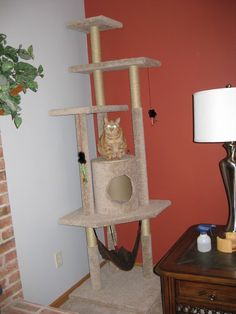 Build a Cat Tree With These Free Plans: How to Build a Cat Tree from Pickle Perfect #catsdiytree