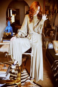 House of Ollichon loves...Slinky Studio 54 Jumpsuit - 70s Vintage Fashion Inspiration. #jumpsuit #retrojumpsuit #retrofashion
