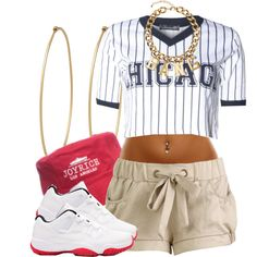 A fashion look from July 2014 featuring Wet Seal shorts, H&M necklaces and Social Anarchy earrings. Browse and shop related looks.