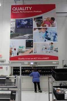 Well-planned signage that maximizes workflow helps employees achieve their best work and provides a better product or service to customers.