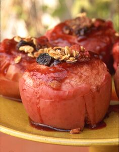 A perennial crowd pleaser, aromatic baked apples, stuffed with spices and a cranberry granola filling, can be prepared in advance and then baked as your family enjoys dinner.