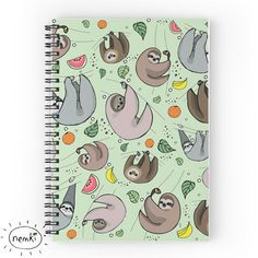 This cheerful notebook. | 27 Adorable Things Every Sloth Lover Needs
