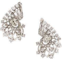 Diamond, Platinum, White Gold Earrings, Boucheron, French