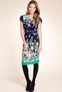 Orient Floral Print Wrap Dress - Marks & Spencer