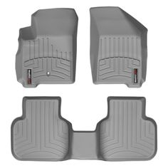 """WeatherTech 46224-1-2 Series Grey Front and Rear FloorLiner - FloorLiner(TM) In the quest for the most advanced concept in floor protection, the talented designers and engineers at WeatherTech(R) have worked tirelessly to develop the most advanced floor protection available today! The WeatherTech(R) FloorLiner(TM) accurately and completely lines the interior carpet giving """"absolute interior protection(TM)""""! The WeatherTech(R) FloorLiner(TM) lines the interior carpet up the front, back and…"""
