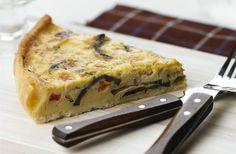 Receita de Tarte de Legumes Mediterrânicos e Queijo Feta