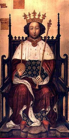 Richard II (1398)   Attributed to Adrian Beaunevene of Valenciennes, court artist to Charles V of France   Westminster Abbey