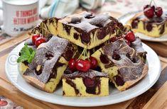 Pandispan marmorat cu cirese, foarte pufos - reteta video | JamilaCuisine Waffles, Pancakes, No Cook Desserts, Sweets, Cooking, Breakfast, Food, Diy, Kitchen