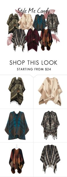 Poncho Trend by stylebycharlene on Polyvore featuring River Island, Topshop, Johnstons, Warehouse, trend and poncho