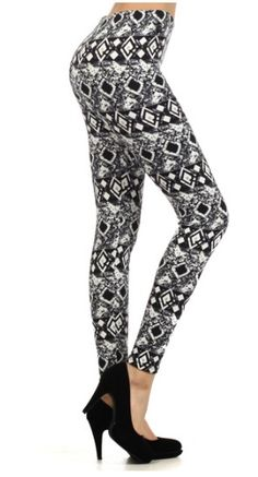 09498a16253ca6 Aztec Print Leggings, Printed Leggings, Tribal Prints, Cali, Fashion  Prints, Black White, Black And White, Black N White, Print Leggings