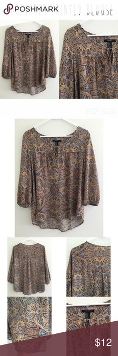 Forever21 printed blouse - Size M. - I do not trade.  - I ship everyday except for Sunday or holidays.  - Thanks for checking out my closet! Happy poshing. 💜 Forever 21 Tops Blouses