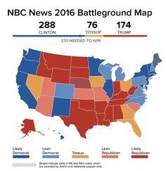 Clinton Surges Past 270 Electoral Votes In Nbc News Battleground Map