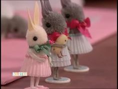 How to Make Pom Pom Bunnies, Part 2 Videos | Tv How to's and ideas | Martha Stewart